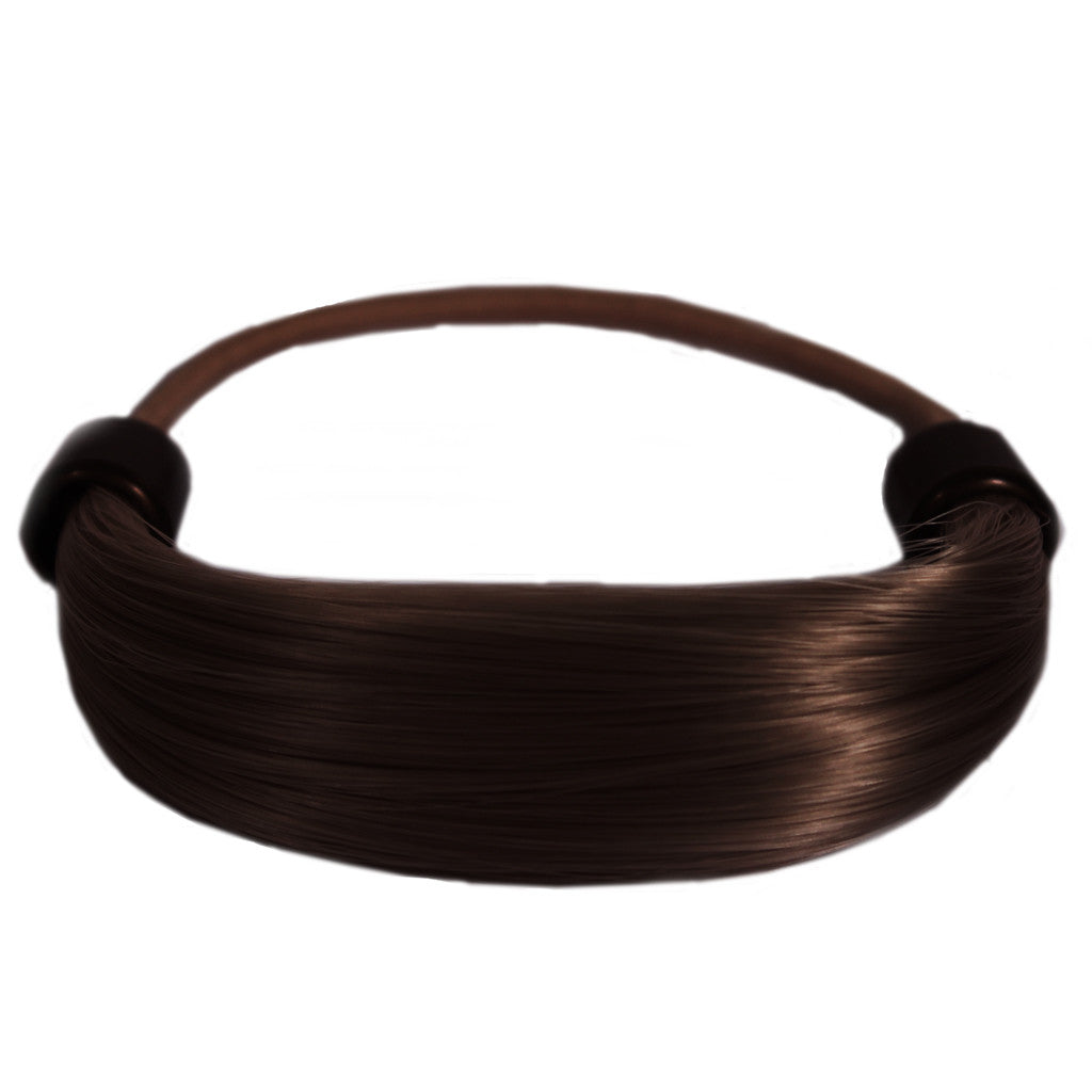 Mia® Tonytail® ponytail wrap- synthetic wig hair - dark brown - patented by #MiaKaminski CEO of Mia® Beauty