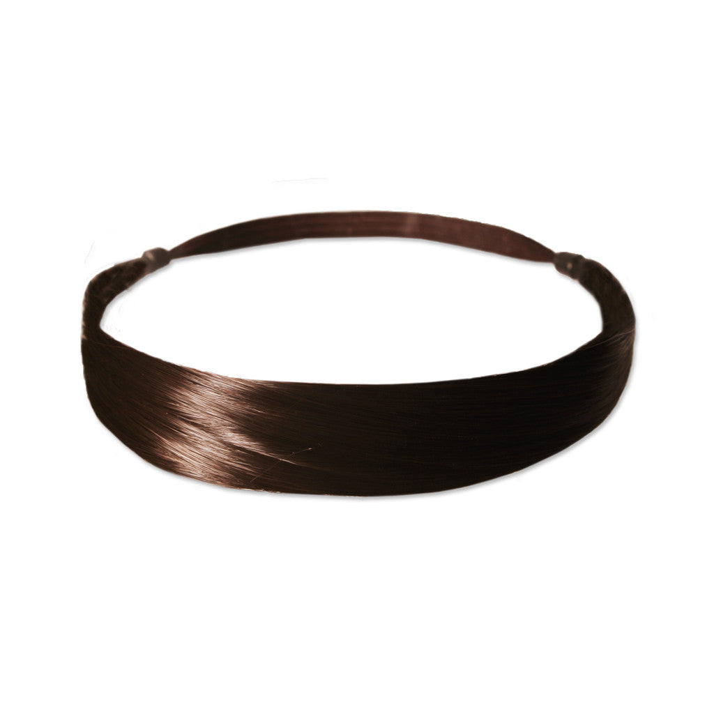Mia® Tonyband® Headband, Straight Synthetic Wig Hair  - Medium Brown Color - designed by #MiaKaminski of #MiaBeauty #Mia #Beauty #HairAccessories #Headbands #SyntheticWigHair #SyntheticHairHeadbands
