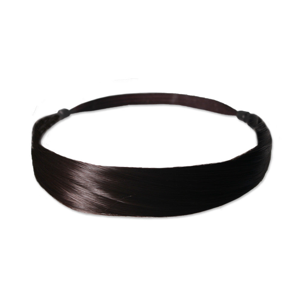Mia® Tonyband® Headband, Straight Synthetic Wig Hair  - Dark Brown Color - designed by #MiaKaminski of #MiaBeauty #Mia #Beauty #HairAccessories #Headbands #SyntheticWigHair #SyntheticHairHeadbands