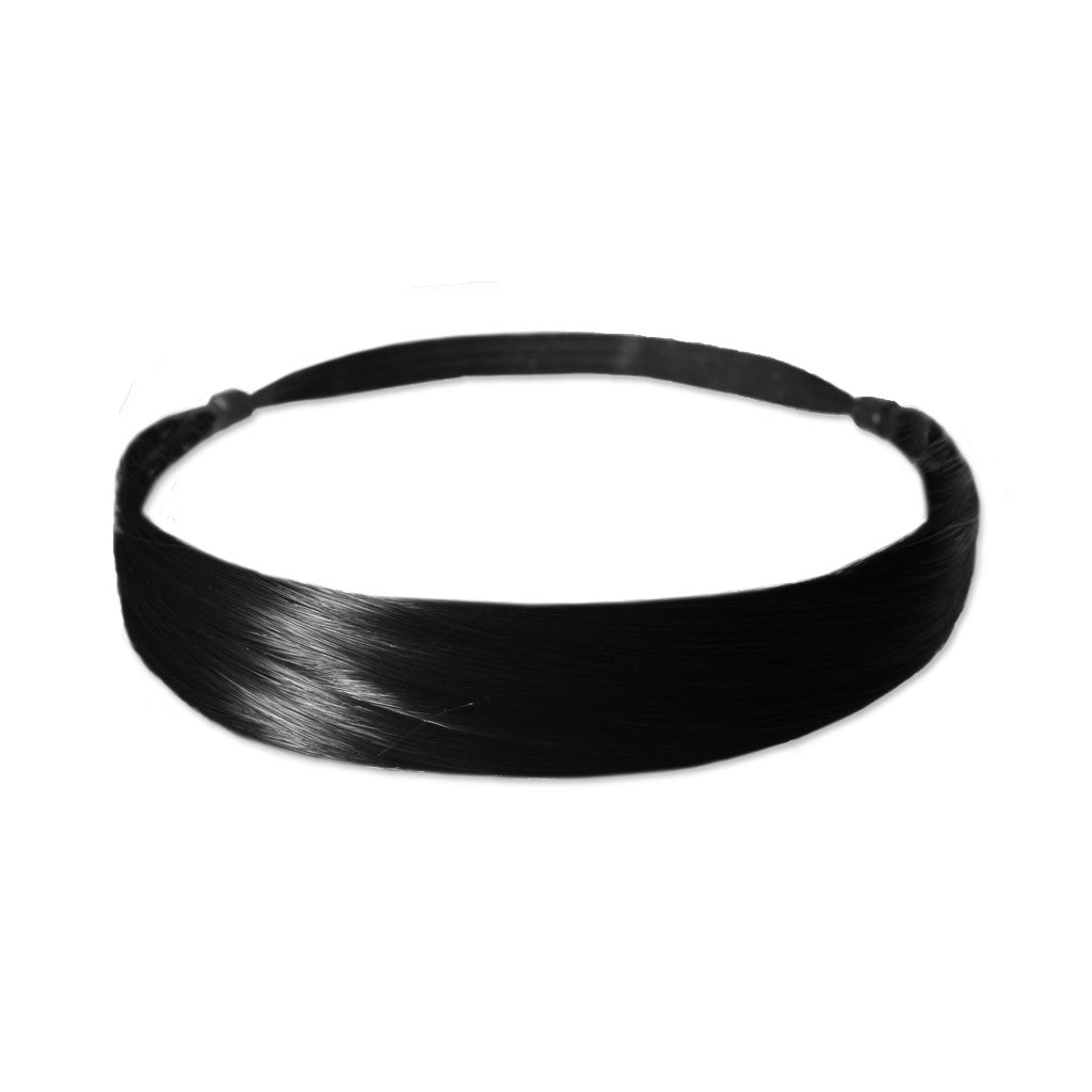 Mia® Tonyband® Headband, Straight Synthetic Wig Hair  - Black Color - designed by #MiaKaminski of #MiaBeauty #Mia #Beauty #HairAccessories #Headbands #SyntheticWigHair #SyntheticHairHeadbands