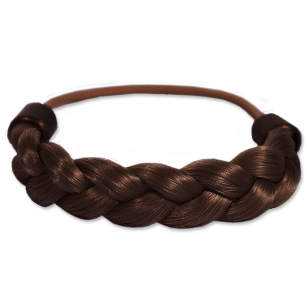 Mia® Braided Tonytail® ponytail wrap made of synthetic wig hair - patented - medium brown - invented by #MiaKaminski CEO of Mia® Beauty