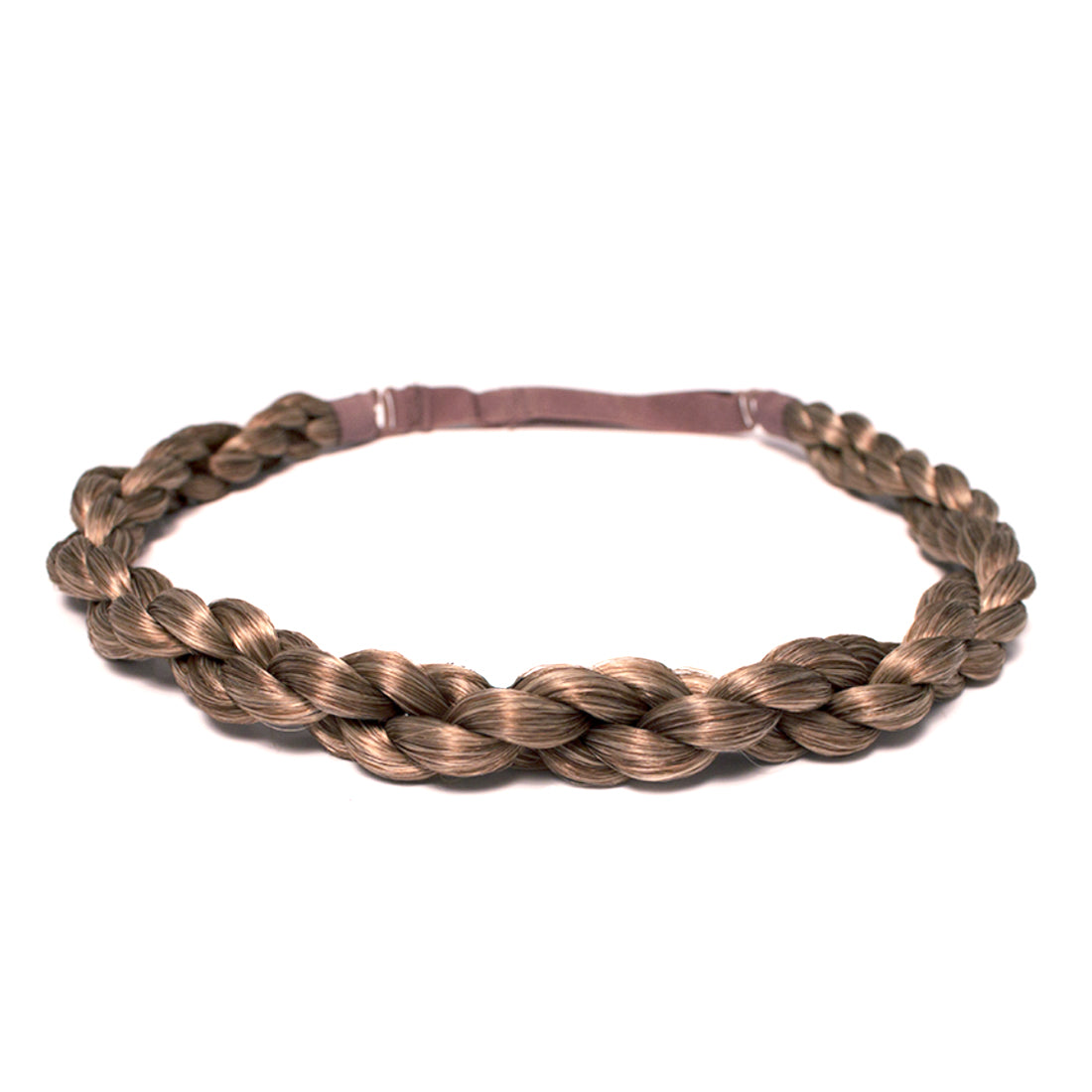 Mia® Rope Braidie is a 3/4 inch wide braided headband made out of synthetic wig hair