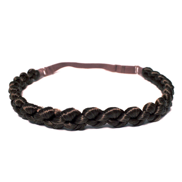 Loose Braidie Headband- Medium Brown