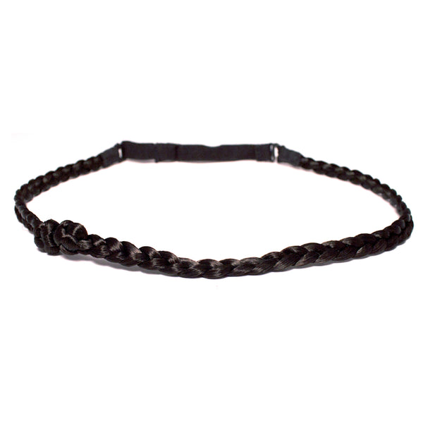 Knotted Braidie Headband - Dark Brown