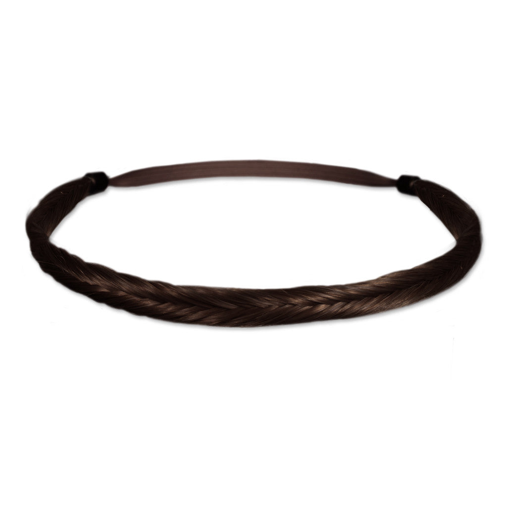 Mia® Fishtail Braidie® - Dark Brown color - designed by #MiaKaminski of #MiaBeauty #Mia #Beauty #HairAccessories #Headbands #Braids #SyntheticWigHair