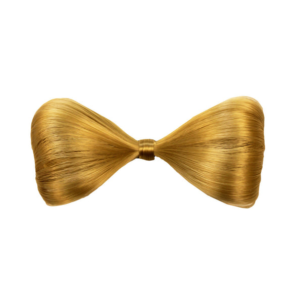 Synthetic Hair Bow Clip™ - Blonde
