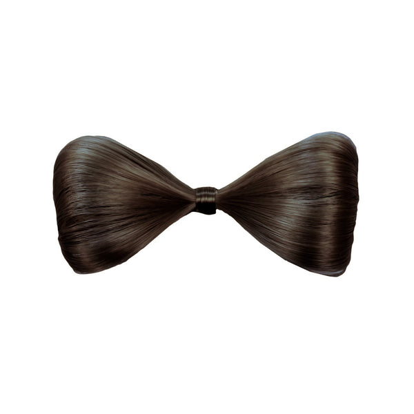 Synthetic Hair Bow Clip™ - Medium Brown