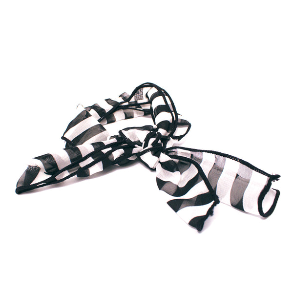 Scarf Switch-A-Roo Headband - Black + White Stripes