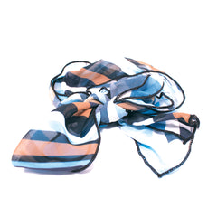 Scarf Switch-A-Roo Headband - Light Blue/Navy Blue/Tan Stripes