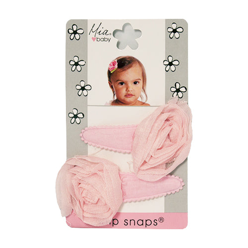 Snip Snaps® with Chiffon Rosettes - Light Pink, Light Pink