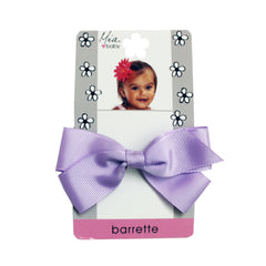 Mia® Baby Grosgrain Bow Barrette - purple color - shown on packaging - by #MiaKaminski #Mia #MiaBeauty #beauty #hair #HairAccessories #baby #girlhairaccessories #hairclips #hairbarrettes #barrette #lovethis #love #life #woman