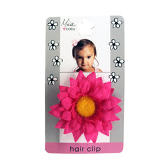 Mia® Baby Daisy Flower Barrette - hot pink color shown on packaging- by #MiaKaminski #Mia #MiaBeauty #beauty #hair #HairAccessories #baby #girlhairaccessories #hairclips #hairbarrettes #barrette #lovethis #love #life #woman