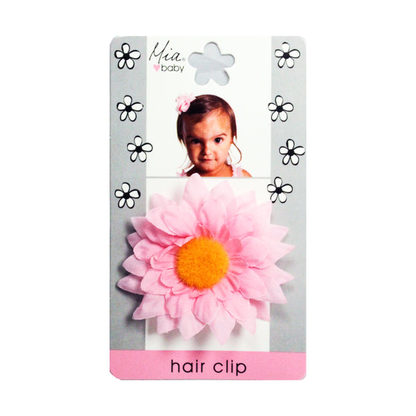 Daisy Flower Hair Clip - Light Pink