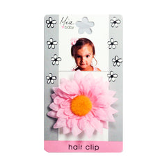 Mia® Baby Daisy Flower Barrette - light pink color - by #MiaKaminski #Mia #MiaBeauty #beauty #hair #HairAccessories #baby #girlhairaccessories #hairclips #hairbarrettes #barrette #lovethis #love #life #woman