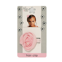Mia® Baby Chiffon Rosette Clip  - light pink color - #EllaOnBeauty - by #MiaKaminski #Mia #MiaBeauty #beauty #hair #HairAccessories #baby #girlhairaccessories #hairclips #hairbarrettes #barrette #lovethis #love #life #woman