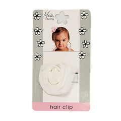 Mia® Baby Chiffon Rosette Clip  - white color - #EllaOnBeauty - by #MiaKaminski #Mia #MiaBeauty #beauty #hair #HairAccessories #baby #girlhairaccessories #hairclips #hairbarrettes #barrette #lovethis #love #life #woman