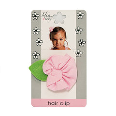 Mia® Baby Jersey Flower Clip - light pink color - #EllaOnBeauty - by #MiaKaminski #Mia #MiaBeauty #beauty #hair #HairAccessories #baby #girlhairaccessories #hairclips #hairbarrettes #barrette #lovethis #love #life #woman