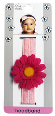 Flower Girl Daisy Headband - Light Pink Daisy on Light Pink Band