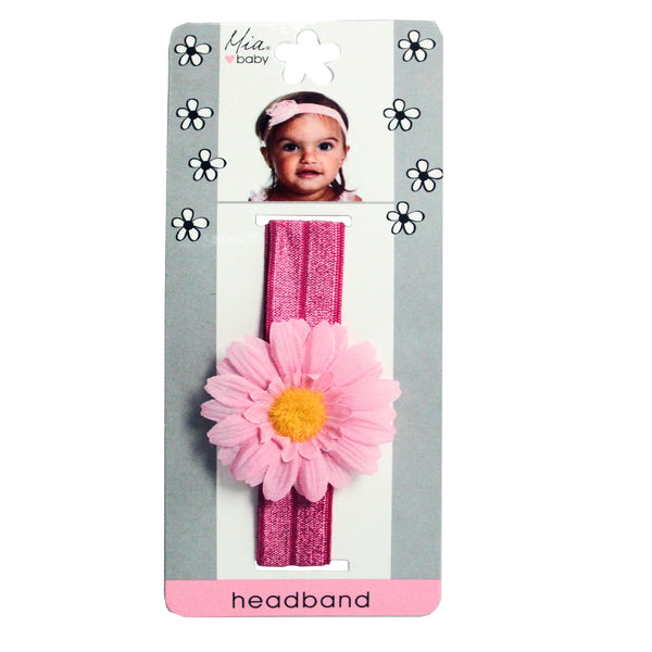 Daisy Headband - Hot Pink + Light Pink