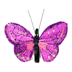 Mia® Butterfly Barrette  - purple color - 1 piece - designed by #MiaKaminski #Mia #MiaBeauty #Beauty #Hair #HairAccessories #barrettes #hairclips  #jawclampsforhair #lovethis #love #life #metallichairclips #silver
