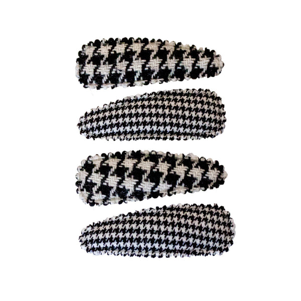 Snip Snaps® Fabric - Black + White Houndstooth