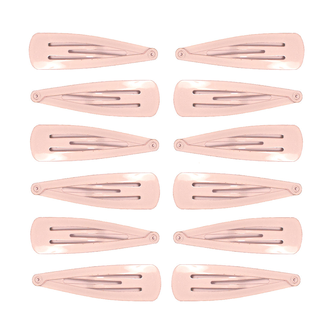 Mia® Spirit Line Snip Snaps® high gloss paint - white color - 12 pieces shown out of the packaging - designed by #MiaKaminski of #MiaBeauty #beauty #hair #hairclips #hairaccessories #barrettes