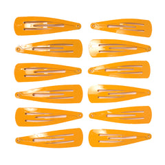 Mia® Spirit Line Snip Snaps® high gloss paint - yellow gold color - 12 pieces shown out of the packaging - designed by #MiaKaminski of #MiaBeauty #beauty #hair #hairclips #hairaccessories #barrettes