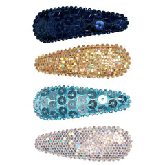 Snip Snaps® Sequins + Metallic - Navy, Gold, Light Blue, Silver