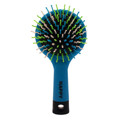 Mia® Happy Brush™ 2 in 1 detangling brush with a mirror on the back - blue color -  by #MiaKaminski of Mia Beauty