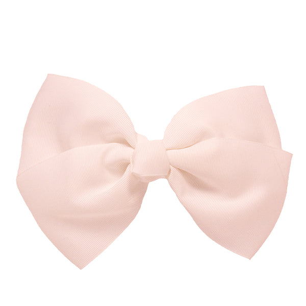 X-Large Grosgrain Bow Barrette - White