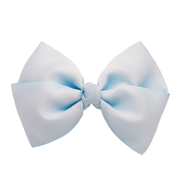 X-Large Grosgrain Bow Barrette - Light Blue