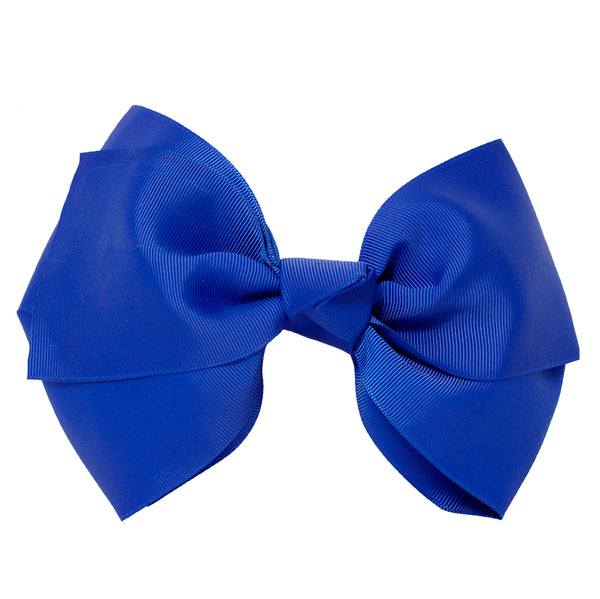 X-Large Grosgrain Bow Barrette-Royal Blue