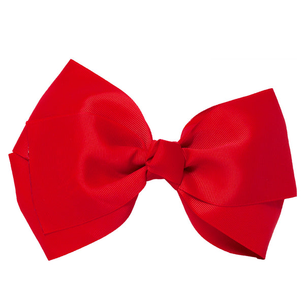 X-Large Grosgrain Bow Barrette - Red