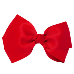 X-Large Grosgrain Bow Barrette-Red