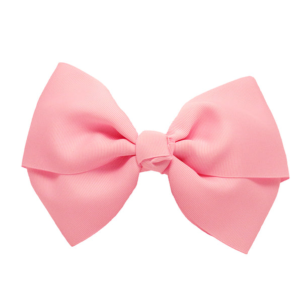 X-Large Grosgrain Bow Barrette - Light Pink