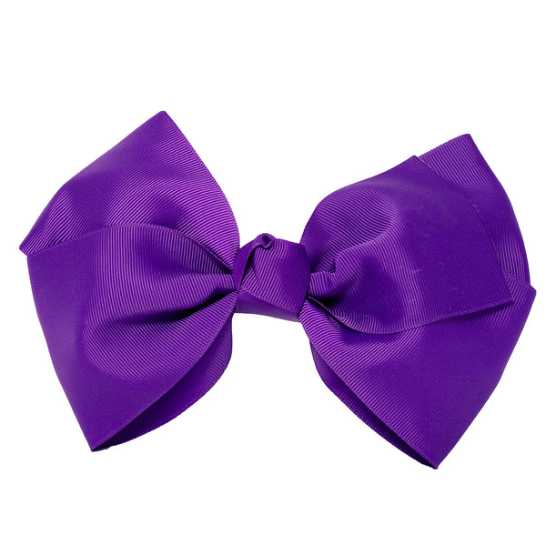 X-Large Grosgrain Bow Barrette - Purple