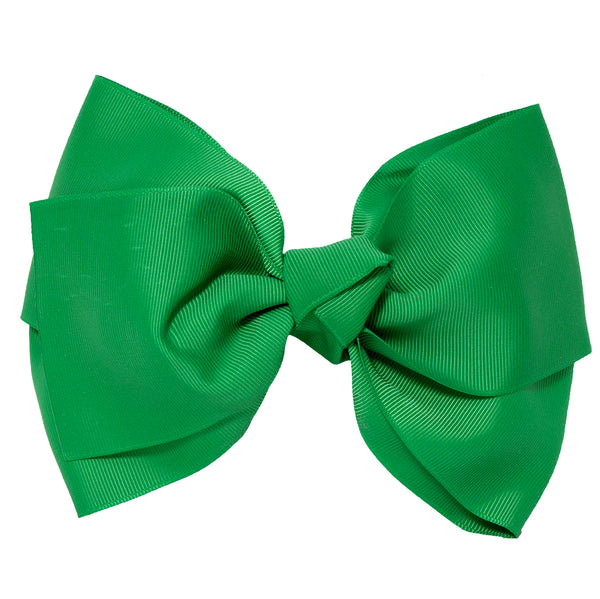 X-Large Grosgrain Bow Barrette - Green