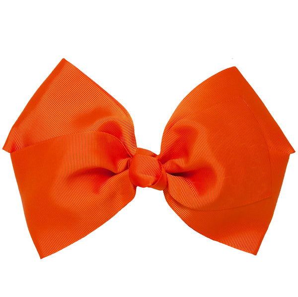 X-Large Grosgrain Bow Barrette - Orange