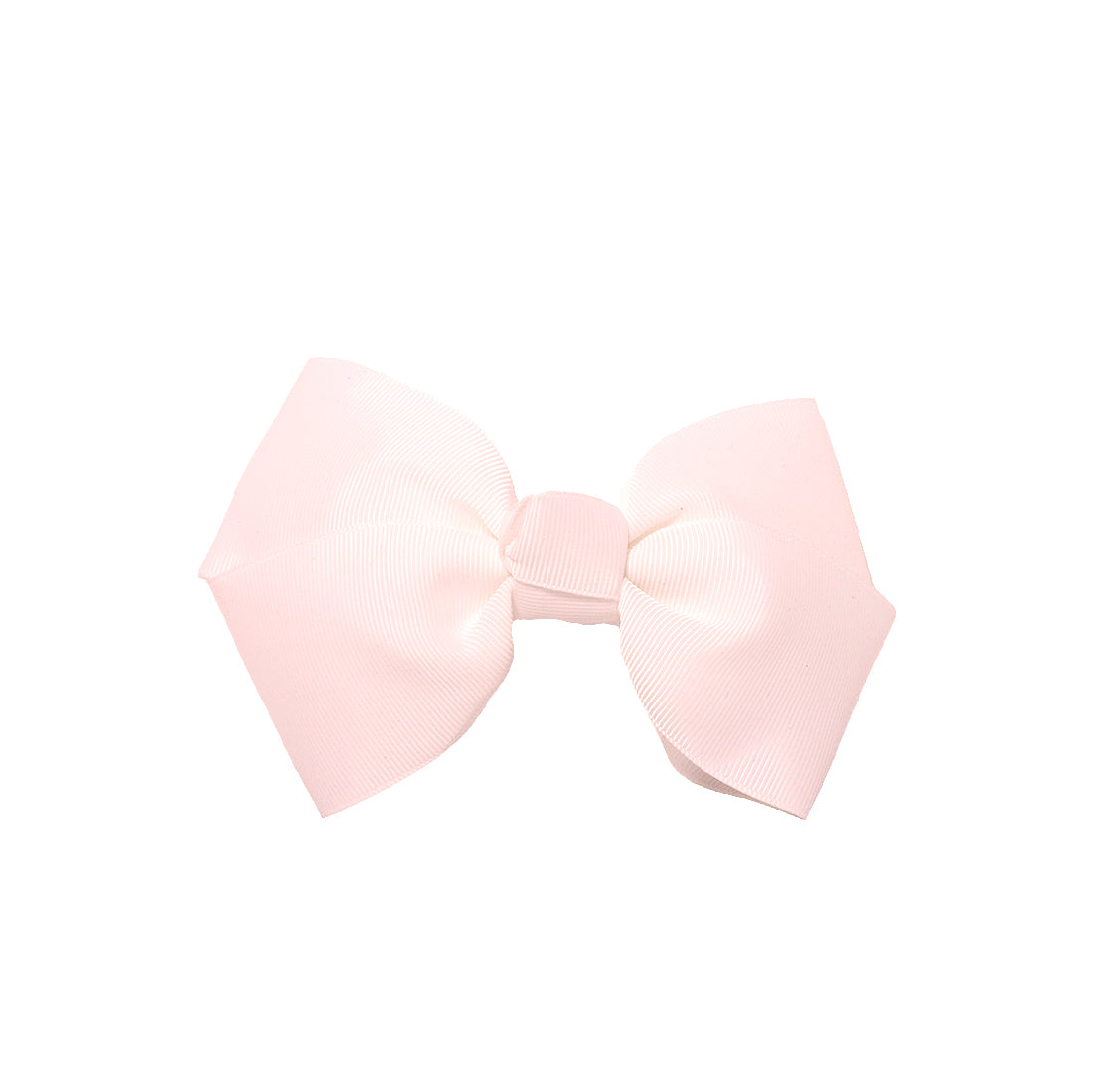 Large Grosgrain Bow Barrette - White