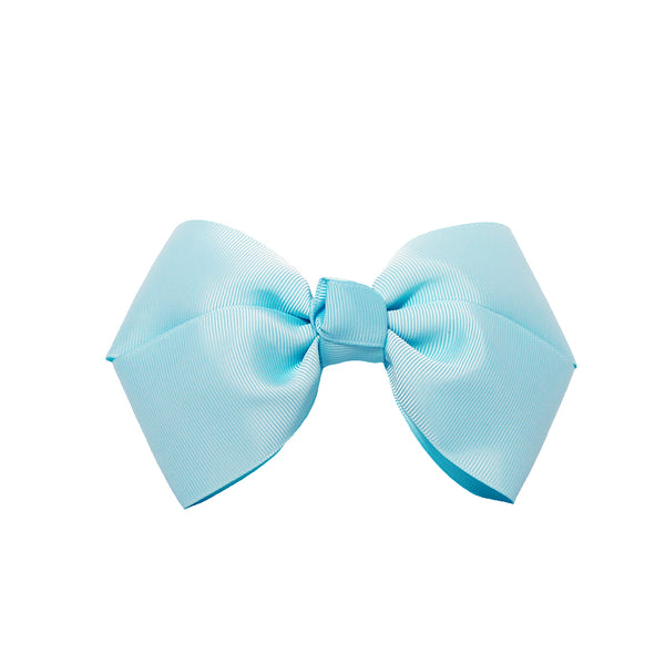 Large Grosgrain Bow Barrette - Light Blue