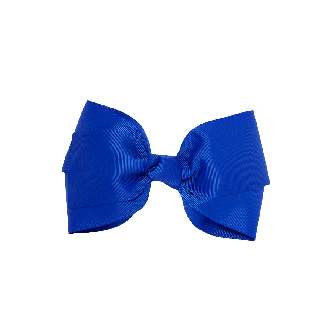 Mia® Spirit Grosgrain Ribbon Bow Barrette - large size - royal blue color - front view - designed by #MiaKaminski of Mia Beauty