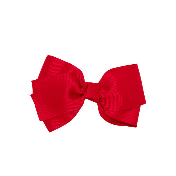 Large Grosgrain Bow Barrette - Red