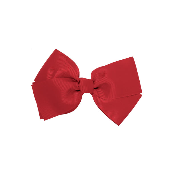 Large Grosgrain Bow Barrette - Maroon