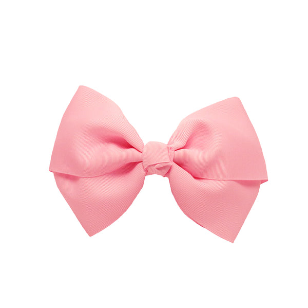 Large Grosgrain Bow Barrette - Light Pink
