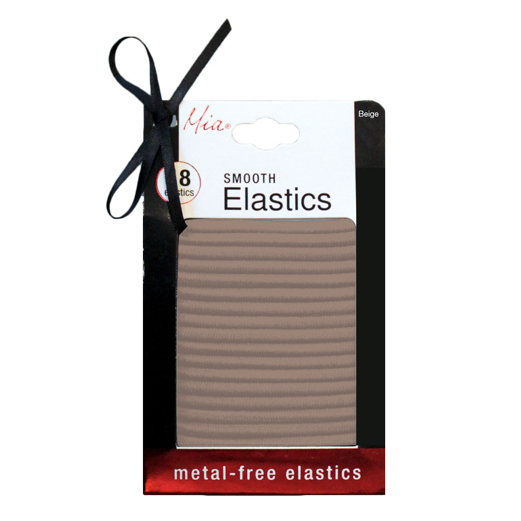 Mia® Smooth Metal-free Elastics - beige color - by #MiaKaminski of Mia® Beauty