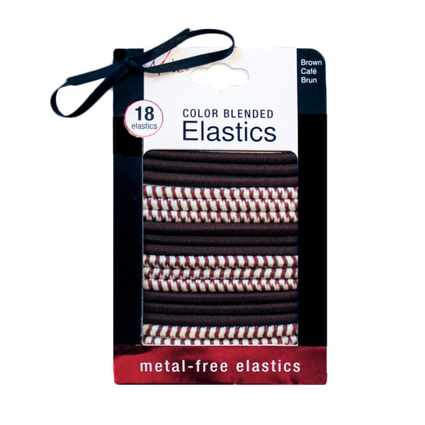 Color Blended Metal-Free Elastics - Brown 18pcs