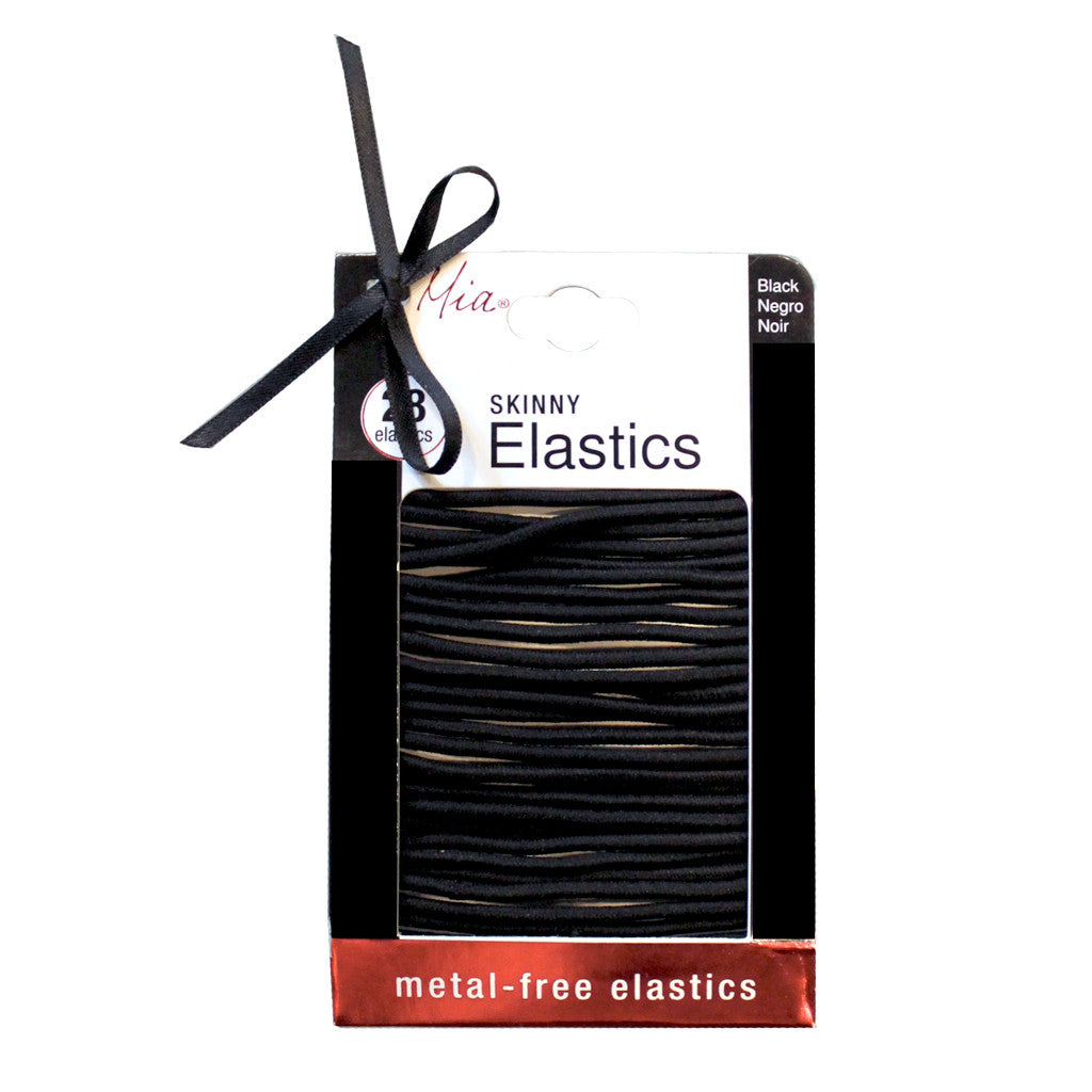 Mia® Large Skinny Elastics - metal-free smooth - black - Mia® Beauty #MiaKaminski