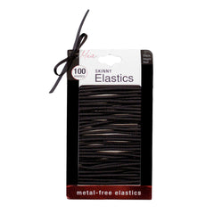 Mia®Large Skinny Elastics - Black - 100 Pieces - #MiaKaminski of Mia® Beauty