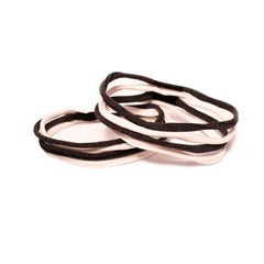 Mia® Stringbean Hair Ties - black and white - out of packaging - desgined by #MiaKaminski #Mia #MiaBeauty #beauty #hair #HairAccessories #ponytails #hairties #hairrubberbands #haircoils #ponytailcuff #rubberbands #ponytailholders #lovethis #love #life #woman