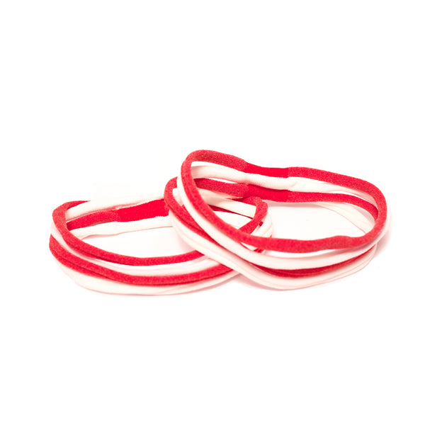 Stringbean Elastics - Red + White
